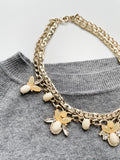 Banana Republic Gold Chain Crystal Necklace