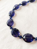 Translucent Blue Crystal Necklace