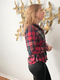 RW & Co. Grey Two Tone Tunic 3/4 Sleeve Tunic Top - XS/S