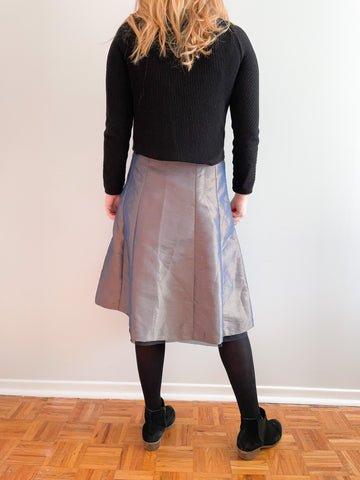 Metallic Satin A-Line Skirt NWT - S/M