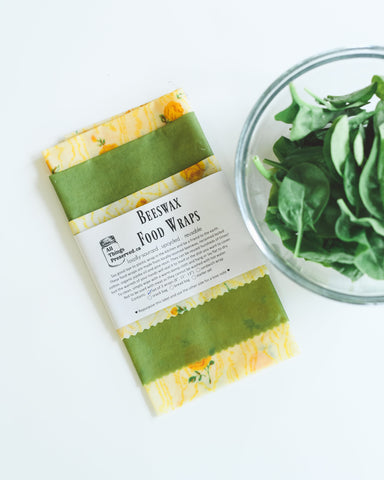 Beeswax Food Wraps Reusable Zero-Waste Kitchen 3 Pack