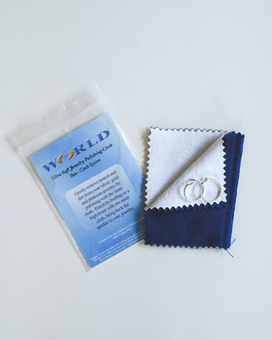 Ultra Soft Jewelry Sterling Silver Polishing 2-Step Cloth