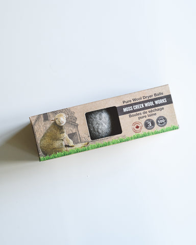 100% Pure Ethical Wool Dryer Balls - 3 Pack Made in Canada