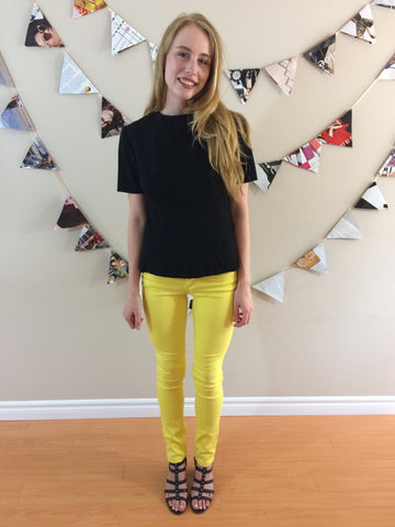 Badri Lemon Fitted Pants