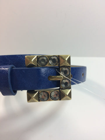 Cobalt & Bronze Stud Belt - S - Le Prix Fashion & Consulting