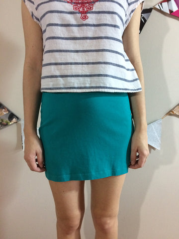 Lush Teal Mini Skirt - Le Prix Fashion & Consulting