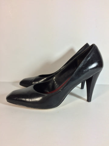 Stelar Black Leather Heels - Le Prix Fashion & Consulting