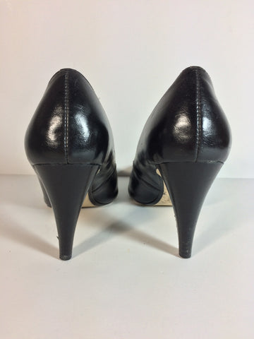 Ann Marino Classic Black Leather Heels - Le Prix Fashion & Consulting