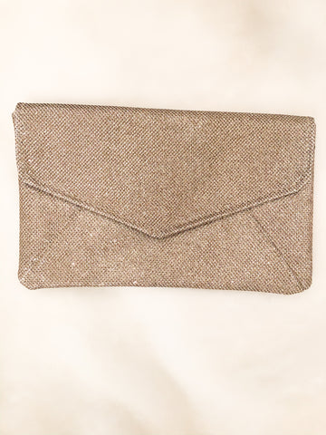 Champagne Gold Sparkly Party Clutch - Le Prix Fashion & Consulting