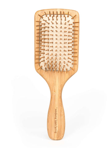 Bamboo Wooden Paddle Hairbrush - Fully Compostable