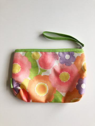 Floral Clutch / Toiletry Bag