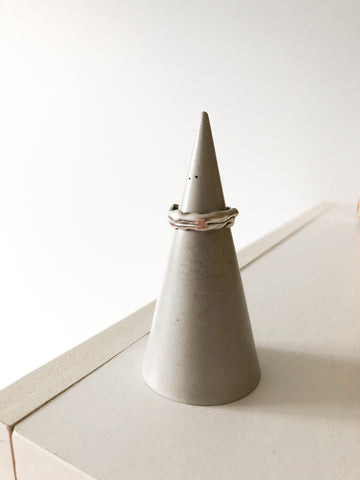 Handcrafted Concrete Ring Cone