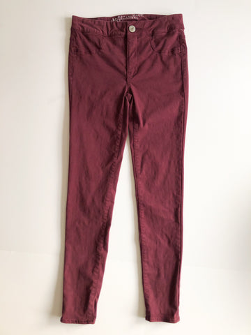 American Eagle Extreme Legging Highest Rise Wine Deep Red Jeggings - Size 0