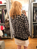 New Look Curves Black Graphic Bomber Jacket - Le Prix Fashion & Consulting
