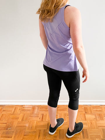 Adidas Lavender Purple ClimaCool Workout Top - Le Prix Fashion & Consulting