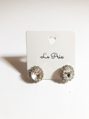 Crystal Pavé Stud Earrings - Le Prix Fashion & Consulting
