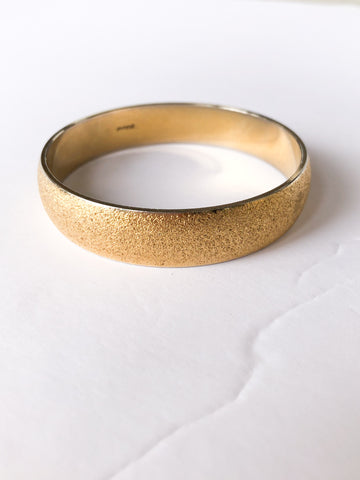 Monet Brushed Gold Bangle Bracelet