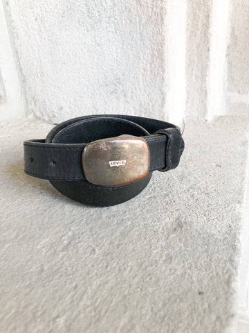 Levi's Vintage Leather Distressed Buckle Belt - S/M