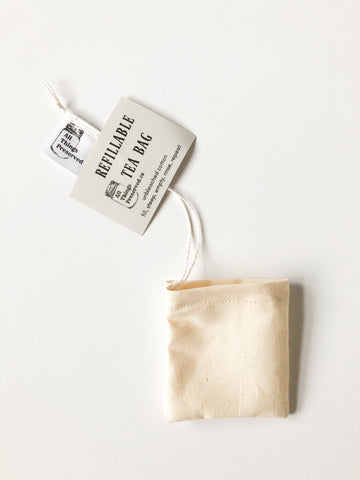 Reusable Tea Bags - Made from 100% Unbleached Cotton Muslin
