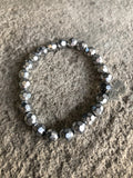 Silver Edgy Sparkle Stretch Bracelet - Le Prix Fashion & Consulting