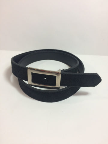 Tarida Black Suede Waist Belt - S/M - Le Prix Fashion & Consulting