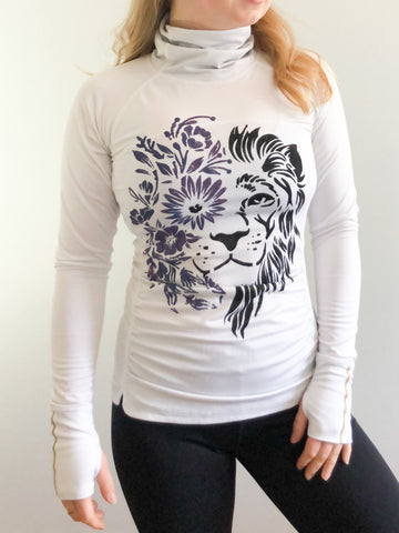 Hyba White Lion Eco Pretty Upcycled Workout Top - Extra Small