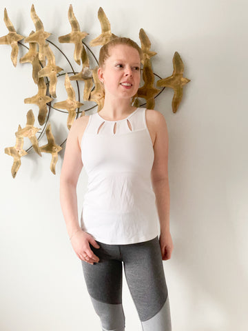 Tonic White Cutout Made in Canada Workout Top - XS/S