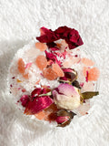 2 Pack of Natural Spa Bath Salts with Dried Flowers & Essential Oils