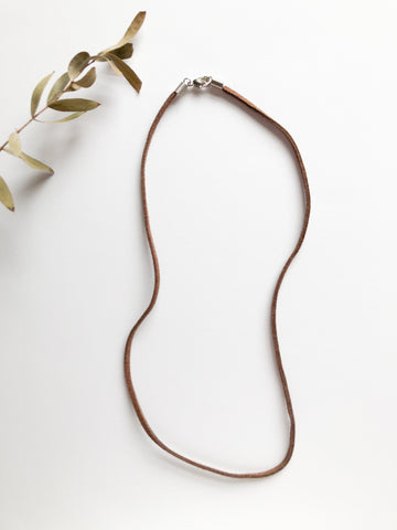 Cord Necklaces - Black and Brown