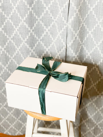 White Gift / Shipping Box - 100% Recycled Paper