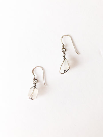 Sterling Silver and Quartz Earrrings