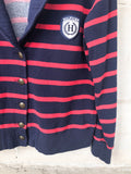 Tommy Hilfiger Red Stripe Collar Fleece-Lined Sweater - Large