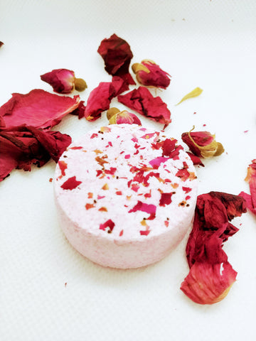 Vanilla Rose & Lavender Natural Spa Shower Steamer Melts - Singles