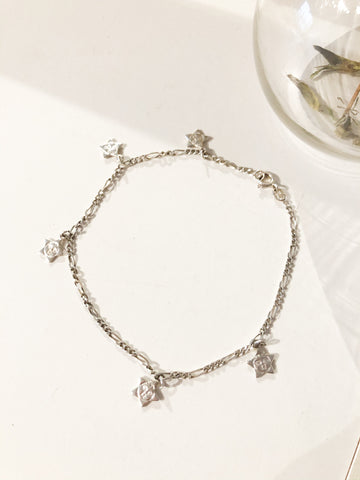 .925 Sterling Silver Star Charm Bracelet - Le Prix Fashion & Consulting
