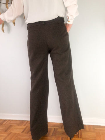 Banana Republic Martin Trouser-Fit Stretch Wool-Blend Pant - Size 8