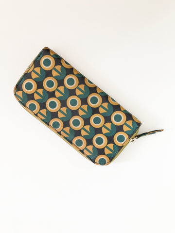Mono Amsterdam Teal and Mustard Graphic Wallet