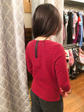Talbots Petite Red Stripe 3/4 Sleeve Top - Le Prix Fashion & Consulting