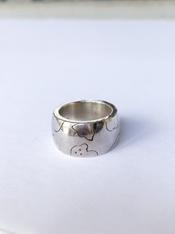 Sterling Silver Teddy Star Ring - Size 5 3/4