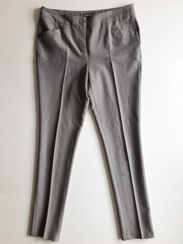 Kenneth Cole Reaction Grey Slim High Rise Work Pants - Size 8