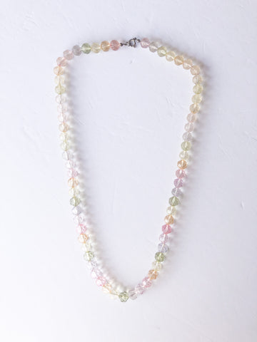 Vintage Plastic Pastel Bead Necklace
