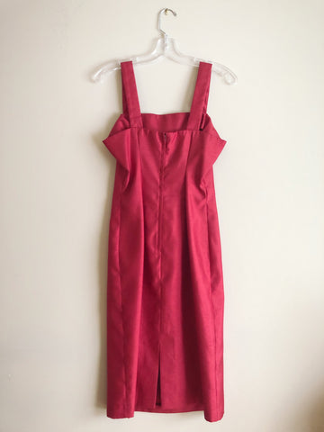 Vintage Red Sateen Slip Dress