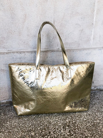 Gold Python Tote Bag - Le Prix Fashion & Consulting