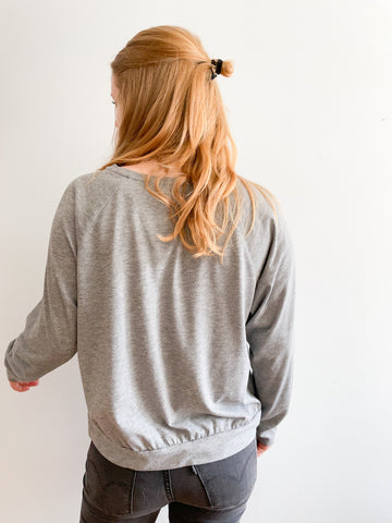 Monki Grey Pullover Sweater - S/M
