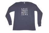 Save Trees Bees & Seas Recycled Plastic Bottle Long Sleeve Shirt - Le Prix Fashion & Consulting