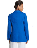 Chico's Blue Linen Relaxed Open Blazer - Le Prix Fashion & Consulting