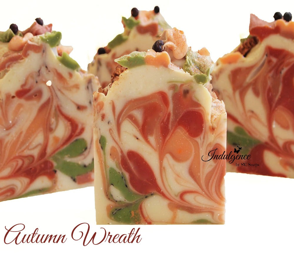 Autumn Wreath Handmade Artisan Vegan Soap