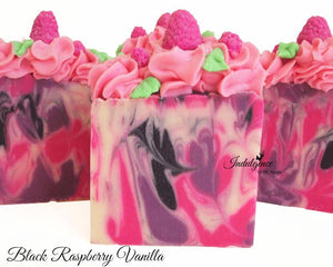 Black Raspberry Vanilla Artisan Vegan Soap