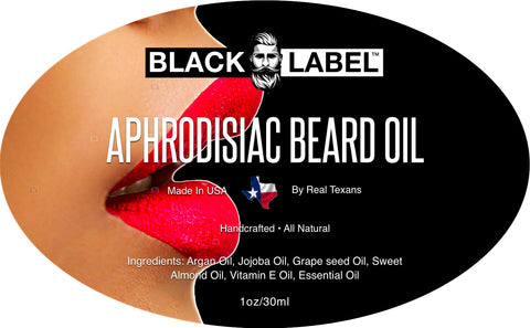 Image of Aphrodisiac Beard Oil - Black Label Beard