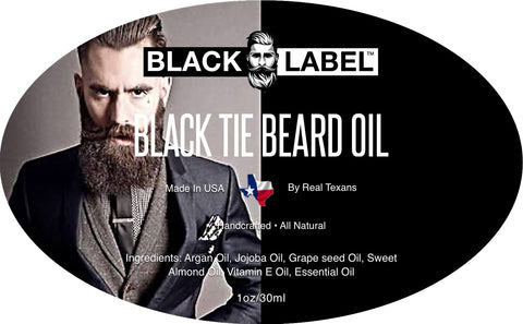 Image of Black Tie Beard Oil, Best Beard Conditioner & Beard Softener - Blacklabel Beard Company