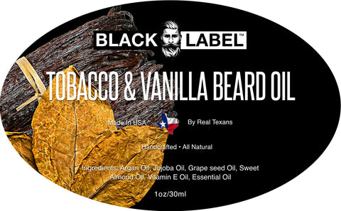 Image of Tobacco Vanilla Beard Oil, Best Beard Conditioner & Beard Softener - Blacklabel Beard Company